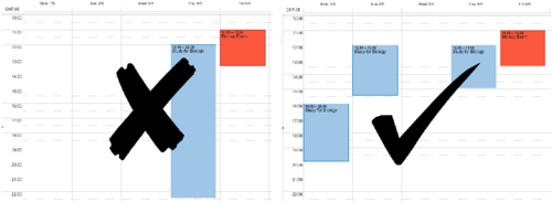 Schedule several small blocks of time to study throughout the week.