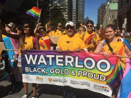 Waterloo students and staff at Pride