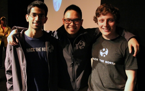 Hack the North co-founders Kartik Talwar, Kevin Lau and Liam Horne