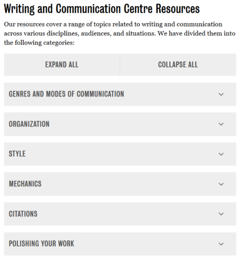 COmmunication Center Headings