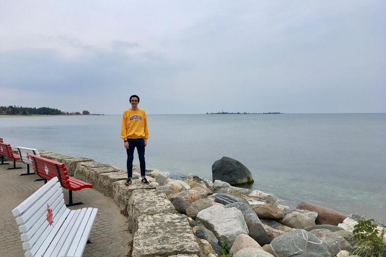 Visiting Southampton, Ontario.