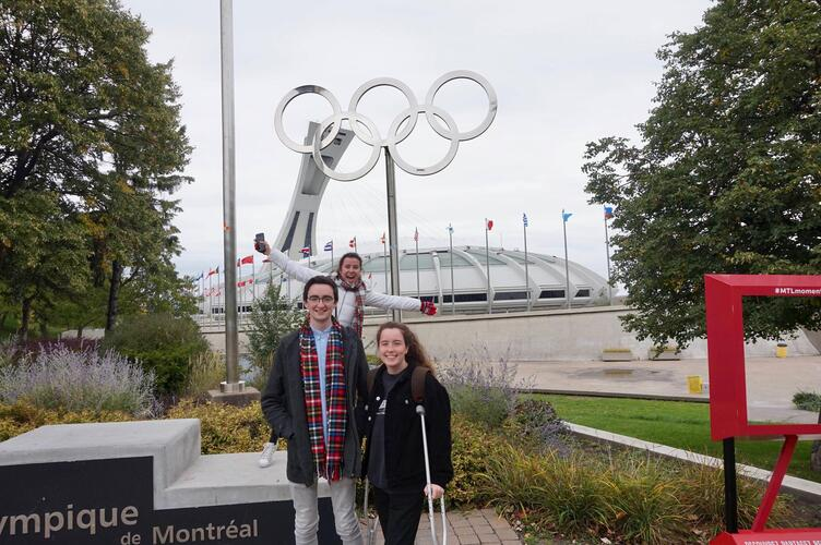 Cathal visited Olympic Park in Montreal.