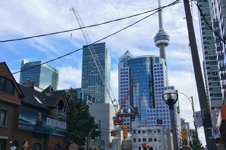 Visiting Toronto.