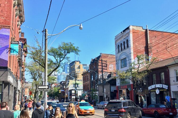 Toronto sidewalk.