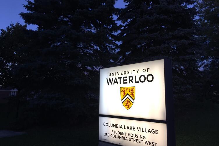Columbia Lake Village sign.