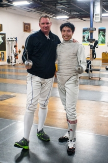 Marc at fencing competition