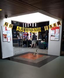 Go Abroad Fair banner in SLC