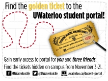 Find the golden ticket to the UWaterloo student portal