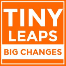 Tiny Leaps, Big Changes logo.