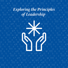 principles of leadership written above two hands holding a star