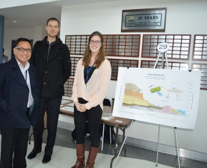 Michelle with colleagues and project diagram
