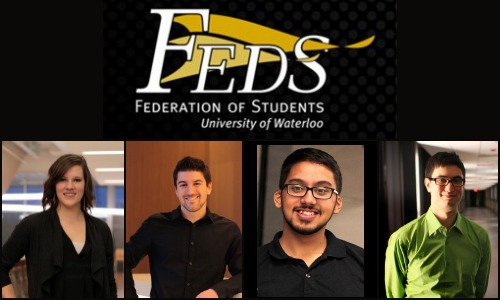 """Federation of Students University of Waterloo"" 2014 executives"