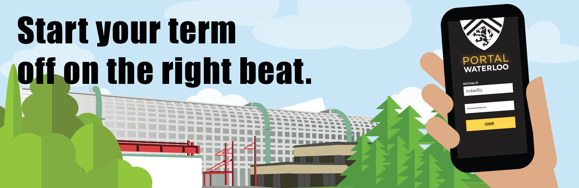 Start your term off on the right beat. Get the Student Portal app.