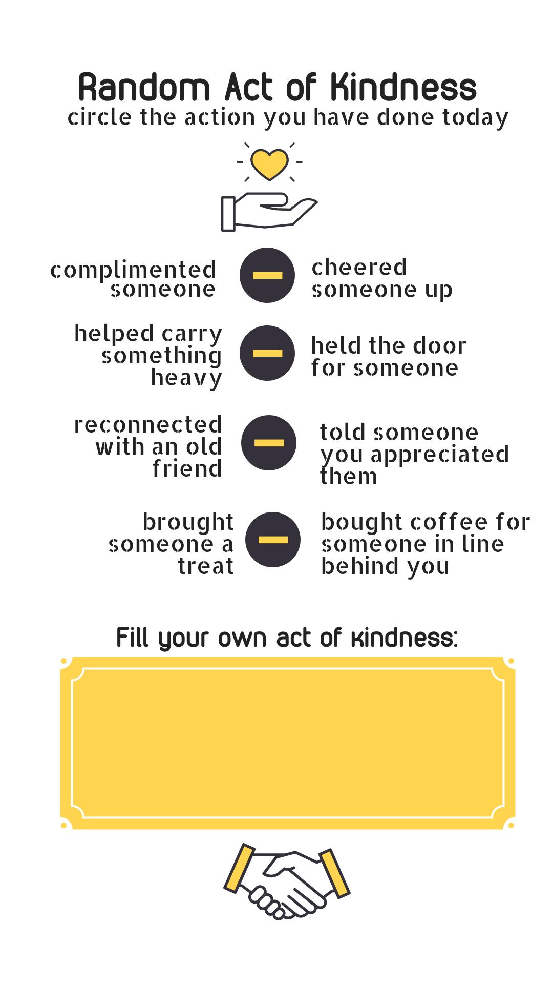 Original template for the Random Act of Kindness #UWRAK contest.
