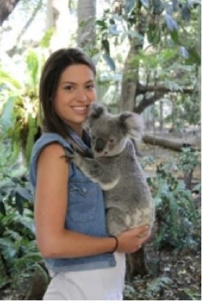 girl holding kuala