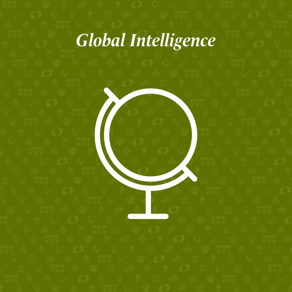 global intelligence written above a globe