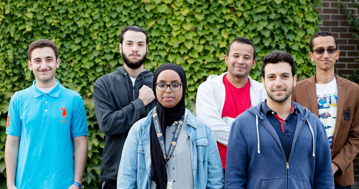 Akram, Mohammad, Hatam, Amine, Sarah and Mazhar.