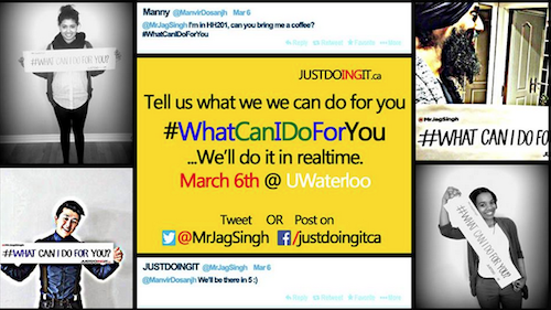 """Tell us what we can do for you. #WhatCanIDoForYou ...We'll do it in realtime. March 6 at UWaterloo."""