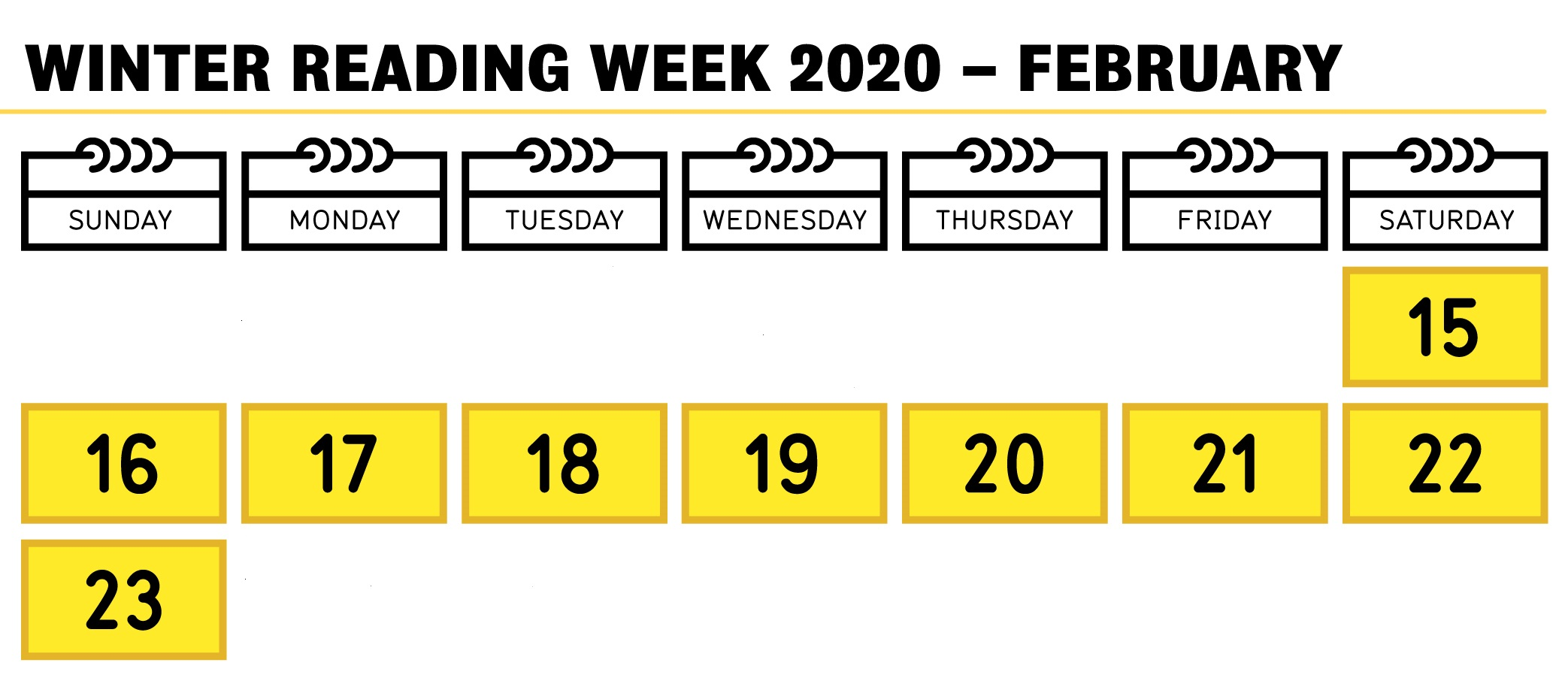 Winter Reading Week 2020 February 15 to 23