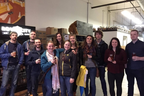 Second group photo at Royal City Brewery in Guelph