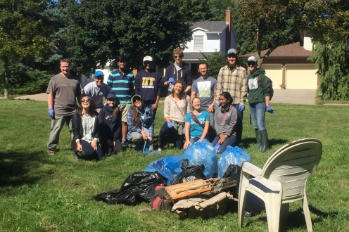 Group photo at September Shoreline Cleanup