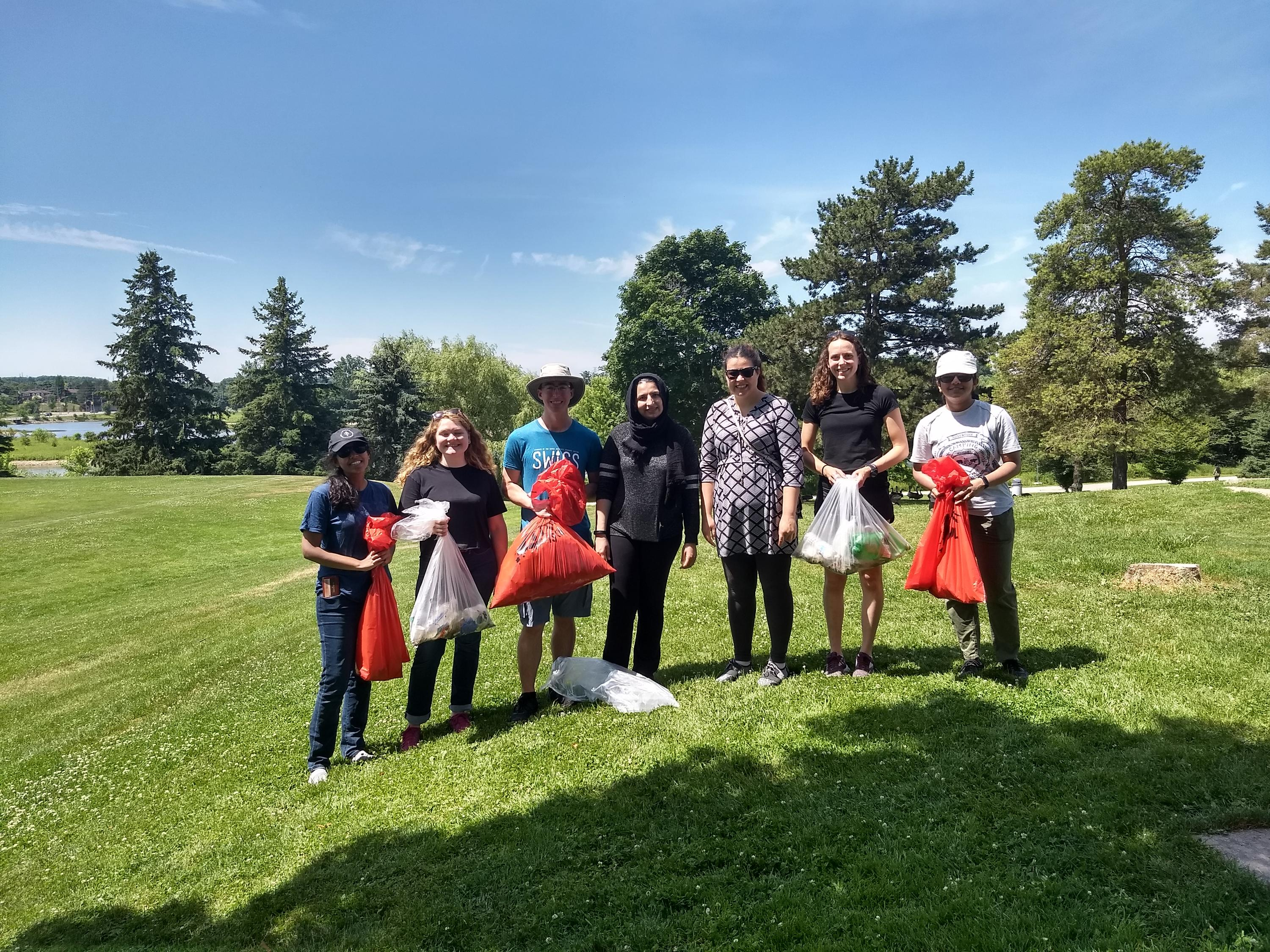 SWIGS cleans up litter at Columbia Lake