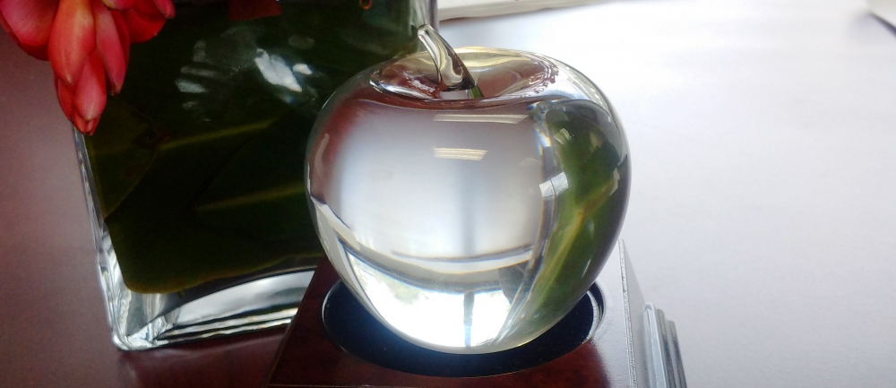 crystal apple award from CASE
