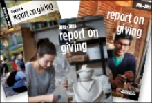 past issues of the Report on Giving