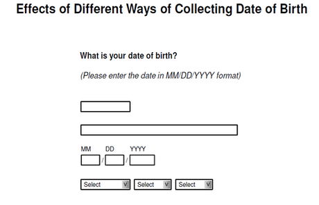 date of birth collection formats