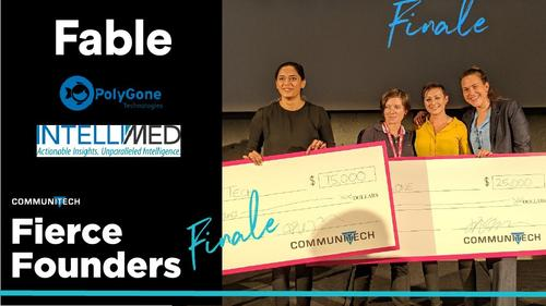 Lauren and Nicole winning 25K for Fierce Foundars Competition
