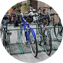 bikes on bike rack by MC
