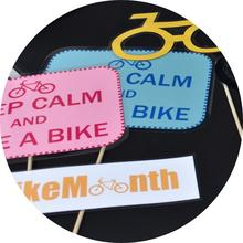 Photobooth props from bike lunch 2018