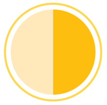 Somewhat complete icon - half circle