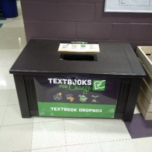 Box for textbook recycling