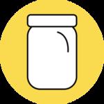 Mason jar icon for zero waste challenge