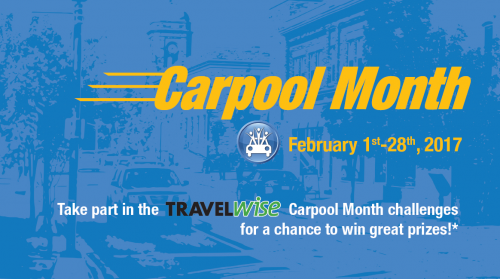 Carpool Month header, February 1-28, 2017