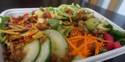 Vegetarian salad bowl at FRSH