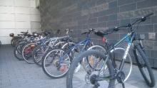 Bike racks by Quantum Nano Building