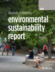 University of Waterloo 2014 Environmental Sustainability Report cover image
