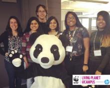 5 UW students at WWF Hackathon in Toronto