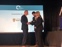 Jean Andrey and Mat Thijssen accept Breakthrough Award