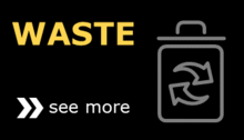 Waste icon button