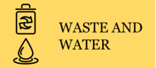 Waste and Water Icon