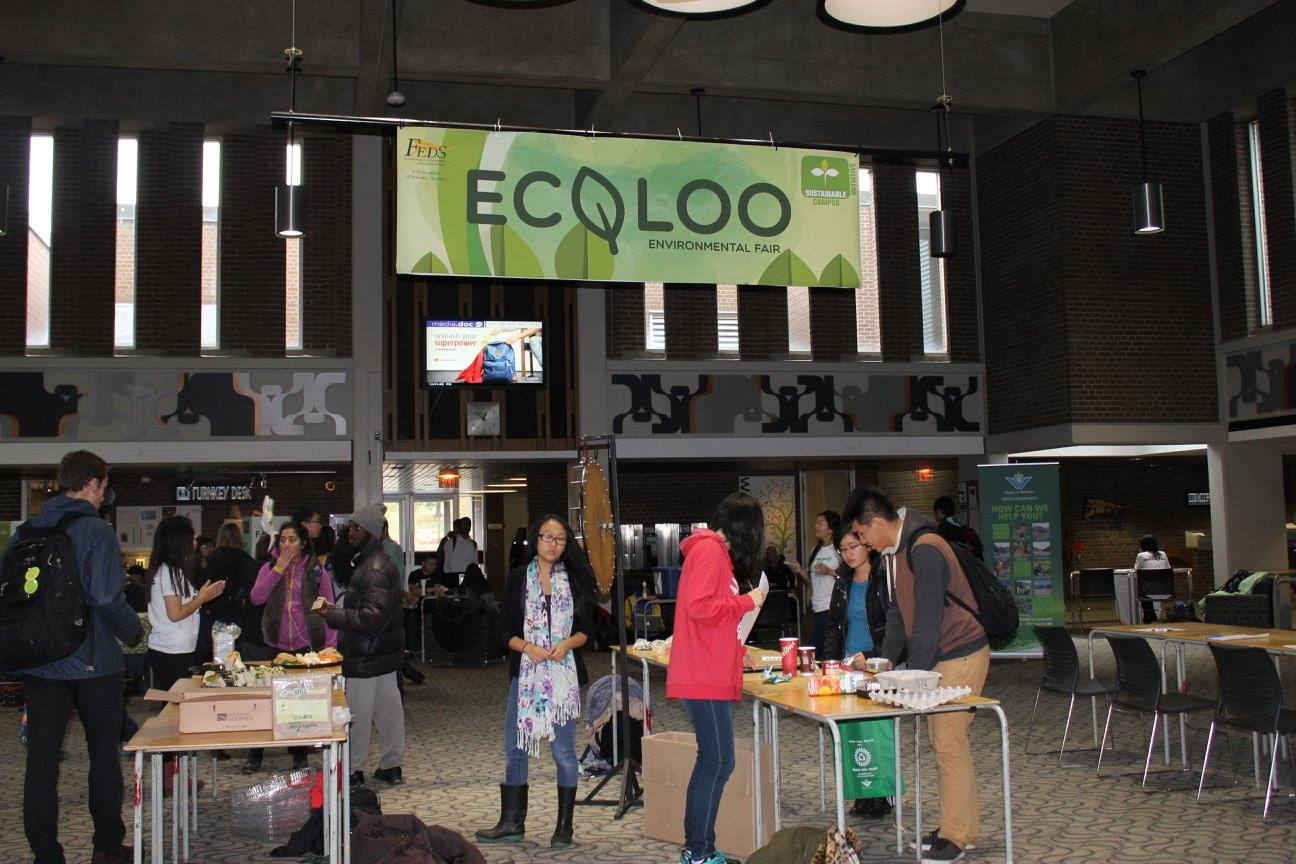 Students joining Ecoloo event