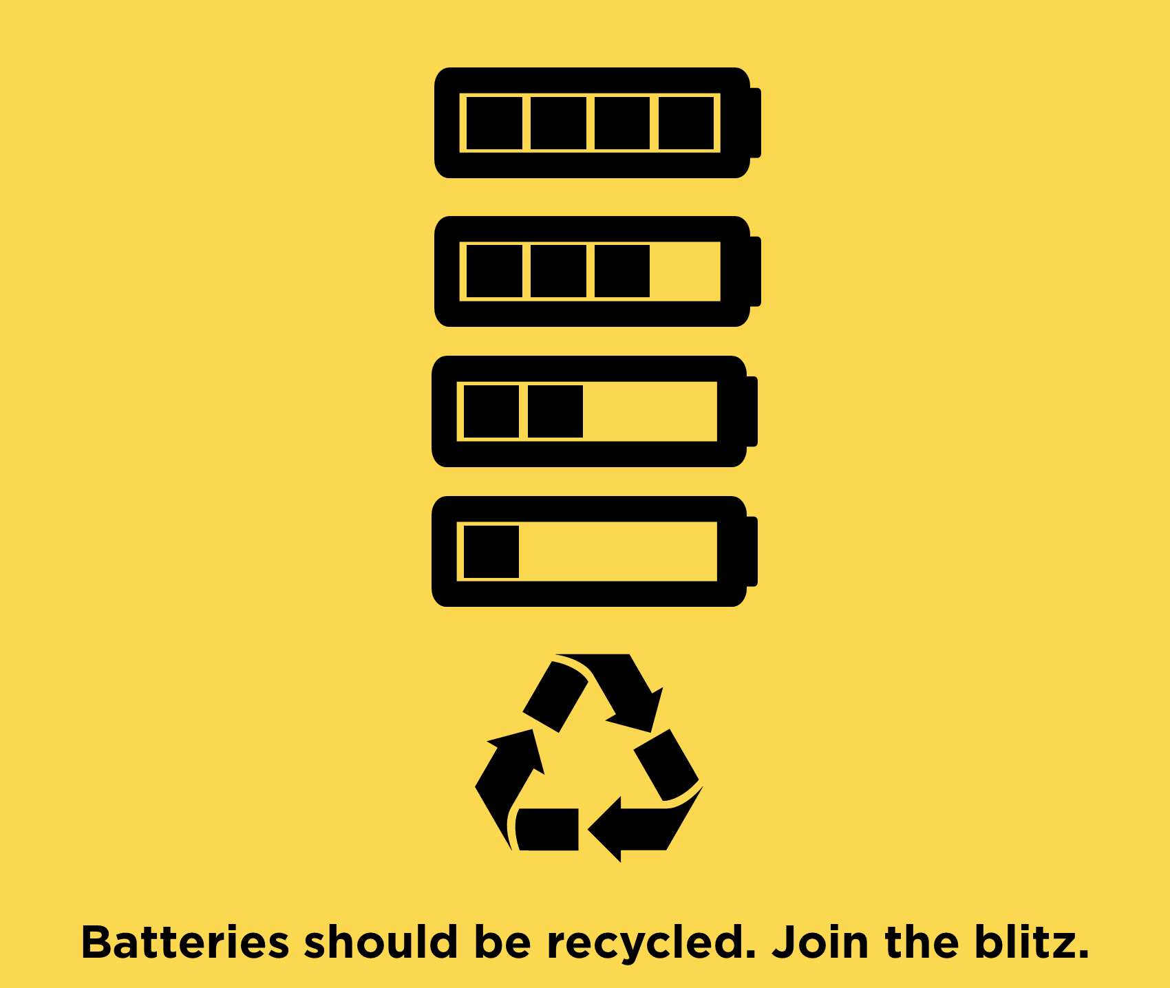 Batteries should be recycled. Join the blitz.