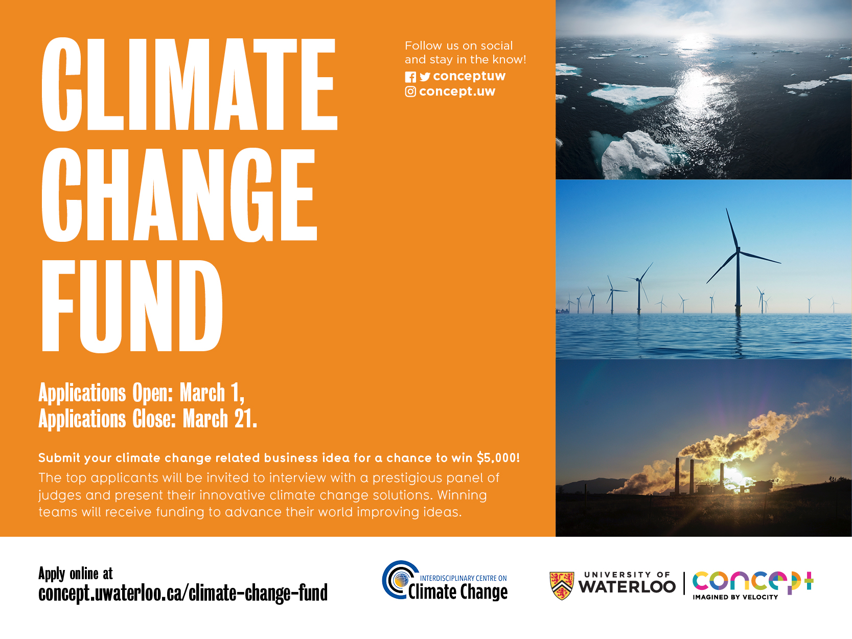 Interdisciplinary Centre on Climate Change's Climate Change Fund Promotional Poster
