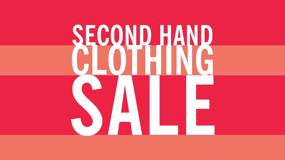 Text reading, Second Hand Clothing Sale