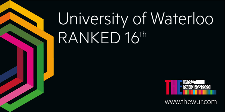 THE University Impact Ranking Banner - UW ranked 16th