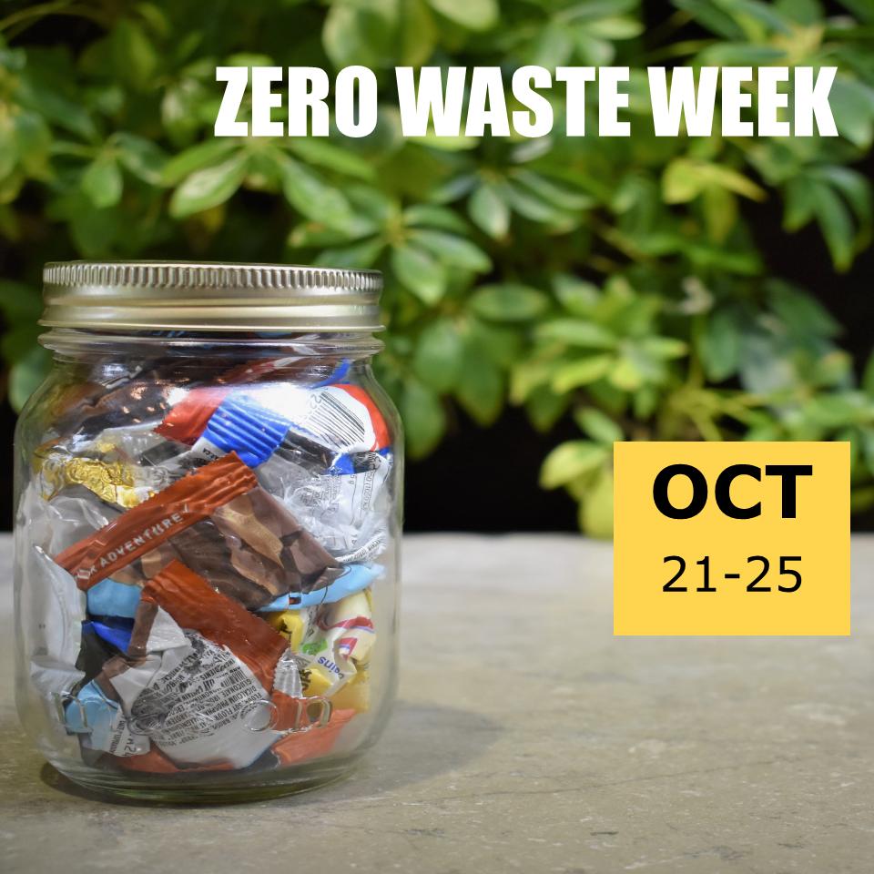 Mason jar for zero waste week promo