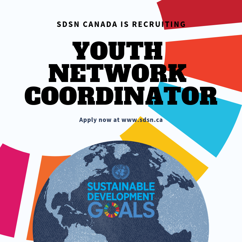 SDSN Canada is recruiting a Youth Network Coordinator